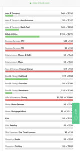 Mint budgeting expense tracker